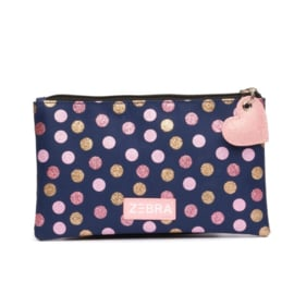 Zebra Girls Pencilcase - Wild dots Navy