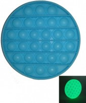 Pop It Rond - Blauw - Glow in the dark