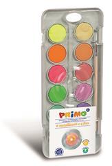 PRIMO - Waterverf doos met fluor en metallic kleuren