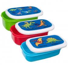 Snackbox set van 3 - Dinosaurus