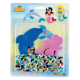 Hama strijkkralen set dolfijn en zeemeermin