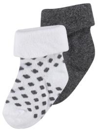 Noppies Sokken 2-pack Dot Grey