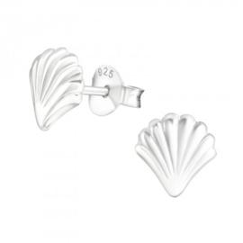 Zilveren schelpen oorsteker