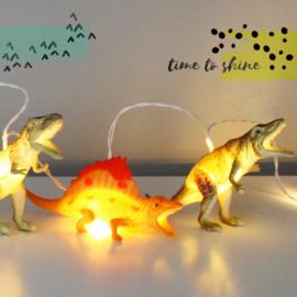 Dinosaurus lichtsnoer naturel