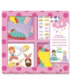 DJECO - Vilten prinsessen stickers