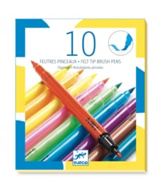 Djeco Stiften met penseelpunt - Pop Art Colours