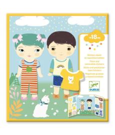Djeco - Boekje met herbruikbare stickers - Aankleden
