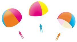 Gekleurde parachutist