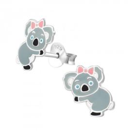 Zilveren koala oorsteker