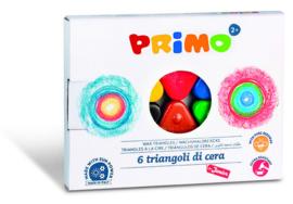 PRIMO - 6 junior waskrijt driehoeken
