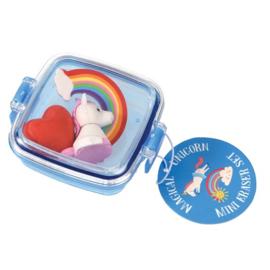 Bakje met mini Unicorn gum