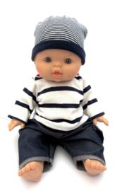Paola Reina babypop Gordi jongen blauw/wit pakje