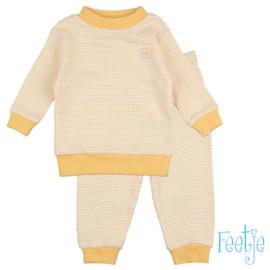 Feetje wafel pyjama oker geel
