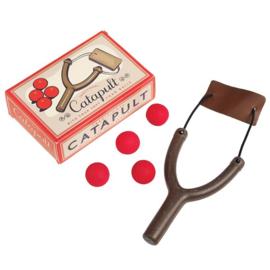 Catapult met drie foam balletjes
