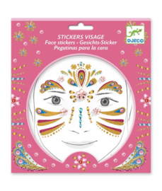 DJECO - Gezicht stickers Gouden Prinses