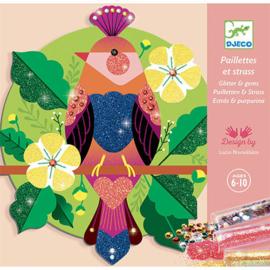 Djeco - Glitterschilderijen Paradijsvogels