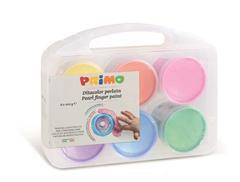 PRIMO - 6 potjes vingerverf 100 gram