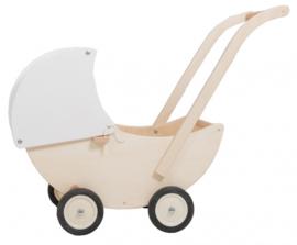 Van Dijk Toys - poppenwagen met beweegbare kap - wit