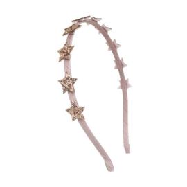 Haarband met roze sterren