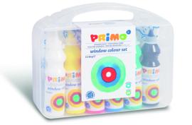 PRIMO - Raamverf in fles (6x75ml) + accessoires