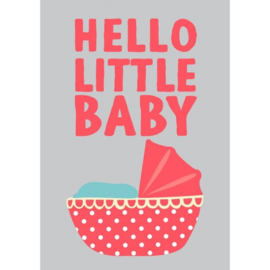 Postkaart Hello little baby