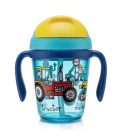 Werkvoertuigen drinkfles voor peuters