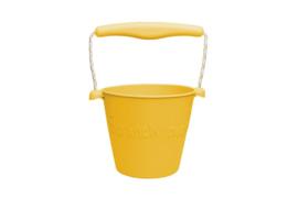 Scrunch - opvouwbare emmer geel