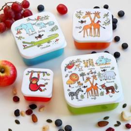 4-delige snackbox set Jungle