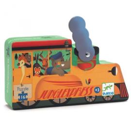 Puzzel 16 stukjes - De locomotief