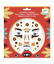 Djeco gezicht stickers Luipaard