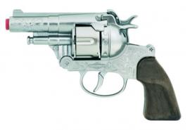 Gonher Die-Cast Metal  politie pistool 12 schots zilver