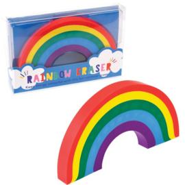 Grote gum in regenboog vorm