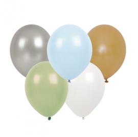 Jabadabado Ballonnen zilver/groen/wit/goud (10 st./zakje)