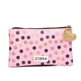 Zebra Girls Pencilcase - Wild dots Pink
