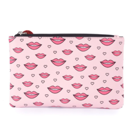 Zebra Girls etui, make-up tasje kisses