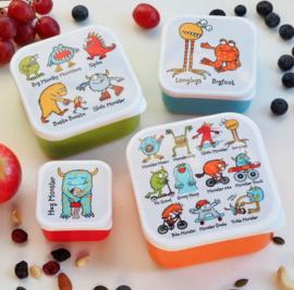 4-delige snackbox set Monsters