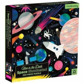 Mudpuppy - Glow in the Dark Puzzle - Space Illuminated (500pcs)