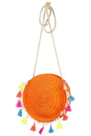 Souza for kids - Tas Stephany, oranje met kwastjes