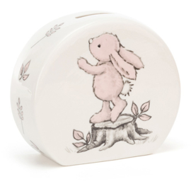 Jellycat porseleinen spaarpot Pink Bashful Bunny