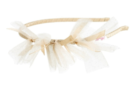 Tiara Heather, off white / gold