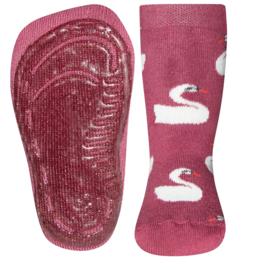 Anti-slip sokslof Ewers roze met zwaan