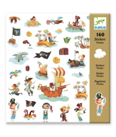 DJECO - 160 stickers Piraten