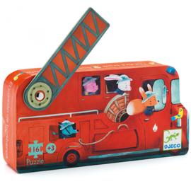 DJECO - Puzzel 16 stukjes - De brandweerwagen