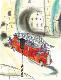 Gepersonaliseerd kraamkrat 'Gouden Boekje' brandweer