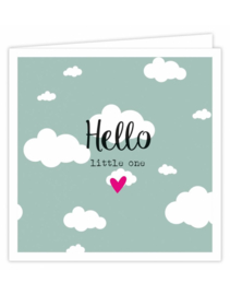 Dubbele wenskaart - Hello Little one