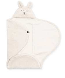 JOLLEIN - Wikkeldeken Bunny 100x105cm - Off-White