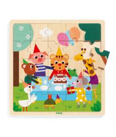 DJECO - Houten puzzel Happy 25 pc