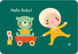 Postkaart Hello baby - Little boy toys