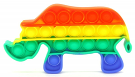 Pop It - Neushoorn -  Rainbow