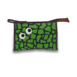 Toilettas groen met ogen